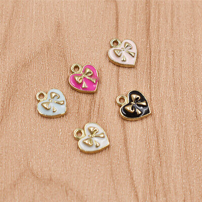 Cute Girls Heart-shape Charms Statement Alloy Studs Pendant Lovely Women Gifts