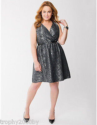 7b2775a8238 NEW LANE BRYANT  90 Plus Size Brocade Surplice Dress Sz 16 -  39.99 ...