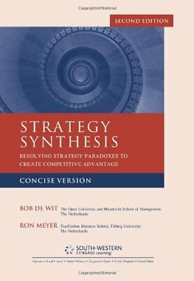 Strategy Synthesis: Concise Version, Meyer, De-Wit 9781408032237 New,.