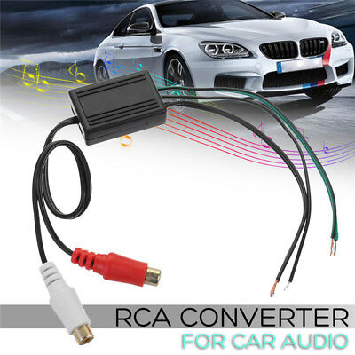 Speaker to 2 RCA Line Output Converter IN / OUT High / Low for Car Audio