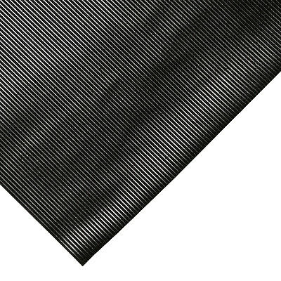 Commercial Ribbed Black Rubber Floor Matting 0.6m x 1.5m