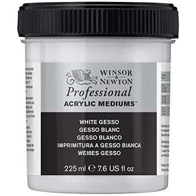 Winsor & Newton Professional Acrylic Medium White Gesso, 225ml - Gesso Artists