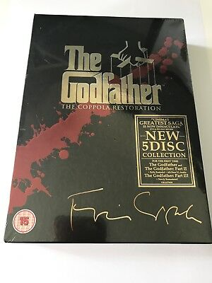 The Godfather Trilogy - The Coppola Restoration 5 Disc BRAND NEW SEALED