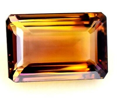 19.50 ct 20x13mm Emerald Cut Natural Untreated Yellow & Purple Ametrine Gem