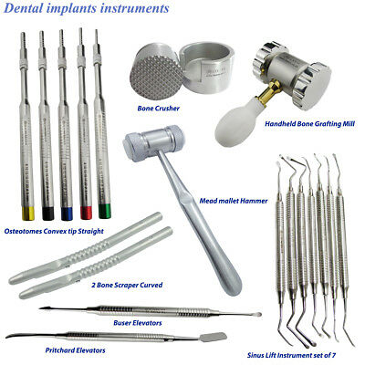 Osteotomes Sinus Lift instrument,Bone Scraper,Bone Grafting Tool for surgery kit