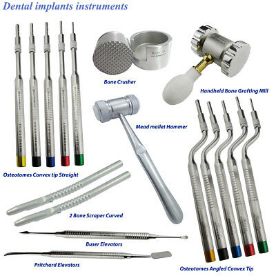 Osteotomes Sinus Lift,elevetors,Bone Scraper,Bone Grafting Mill for surgery Tool