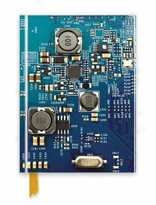 Circuit Board Blue (Foiled Journal) (Flame Tree Notebooks) by Studio New-.