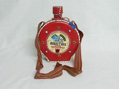 Manastirka Prokupac Bedgrad Plum Brandy Bottle in Leather Cover (Empty)