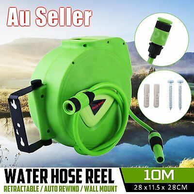 10M Retractable Garden Water Hose Reel Wall Mount Water Rewind Gun XBW-B01 NSW