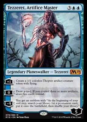 *Magic MtG: TEZZERET, ARTIFICE MASTER (Myhic) - M19 CORE SET *TOP*
