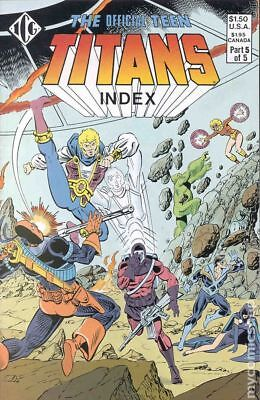 Official Teen Titans Index #5 1985 FN Stock Image