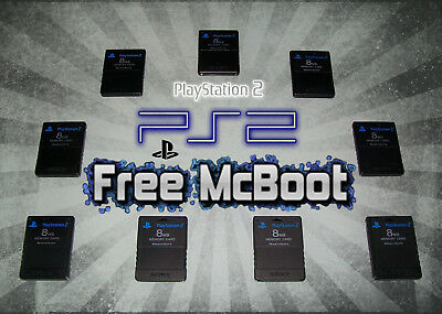 PlayStation 2 PS2 Sony Memory Cards (schwarz) mit FMCB Free McBoot 1.963 Softmod
