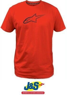 Alpinestars Ageless Tech Men s Tee T-Shirt Motorcycle Motorbike Male Red J S 4a2472c37