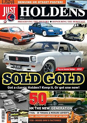 Just Holdens Magazine #32 SOLD GOLD & HK 50th ANNIVERSARY