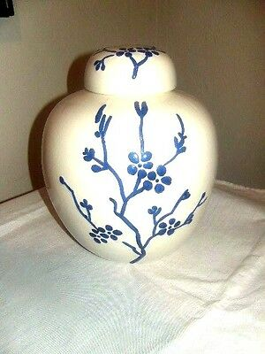 Blue and White Porcelain Vase With Lid