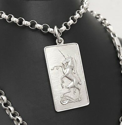 """Jack Spencer STERLING SILVER Unicorn Necklace Med Size Quality 20"""" Chain HM1979"""