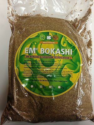 2kg Bag EM Organic Bokashi Bran Mix - for food composters
