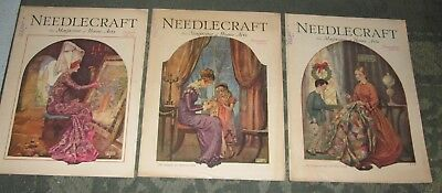 3 August 1929 November 1929 And December 1929 Publications - Needlecraft