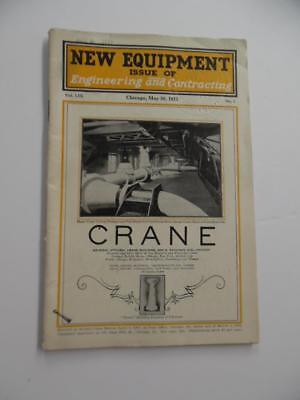 1923 NEW EQUIPMENT Issue Engineering & Contracting Magazine Construction Vintage