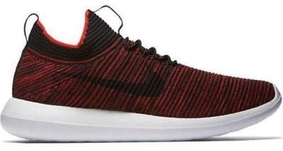 ee93b9615c013 NIKE ROSHE TWO Flyknit V2 Running Shoes Red Black Mens 13 New 918263 ...