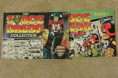 The Judge Dredd Collection Volumes 1 and 2 1985/6 Vintage 2000AD Great Condition