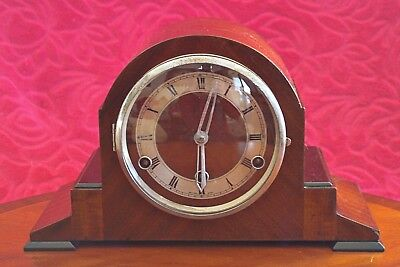 Vintage Art Deco 8-Day Floating Balance Mantel Clock with Westminster Chimes