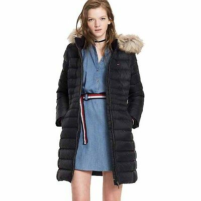 Tommy Jeans Basic Down Coat, Negro Female M