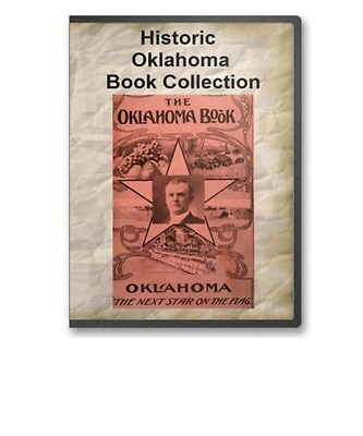 27 Old Oklahoma OK State County History Culture Family Genealogy Books - B309