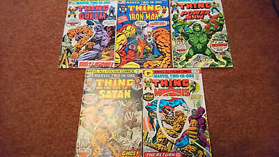 Marvel Two In One 11,12,13,14,15 - 1St Series