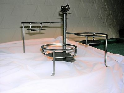 Longaberger Wrought Iron 3 Tier Swivel Caddy & WROUGHT IRON 3 Tier Swivel Bowl Plate Caddy Stand Black - $6.99 ...