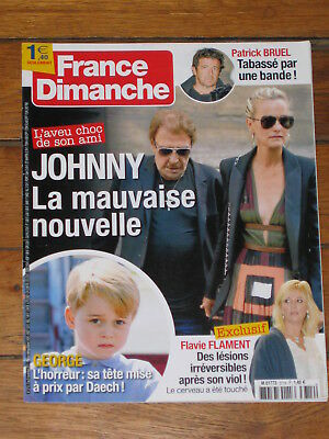 France Dimanche n° 3714, Hallyday, Bruel, Prince George, Flavie Flament, Courbet