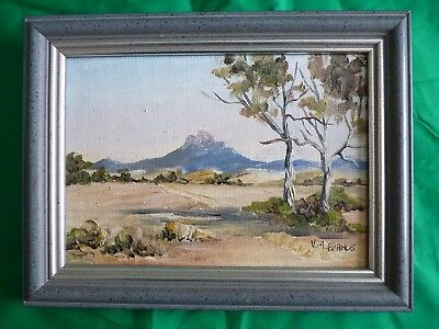 Vintage oil painting on board – Adelaide Australia – VM Francis
