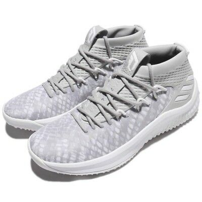 separation shoes a5f39 0a4e2 NEW in box adidas Dame Lillard 4 shoes white grey BY4495 Size 10