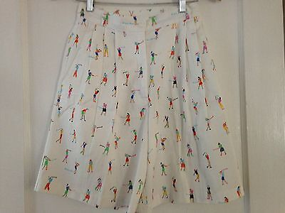 Ken Done Australia Women's Vintage Pleated Golf Shorts White AUS 8 US 2 4
