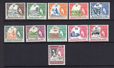 Basutoland 1954 Queen Elizabeth Ii Stamp Issue