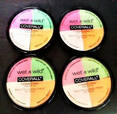 Pack Of 4 Pcs Wet N Wild Coverall Correcting Palette 349 COLOR Commentary