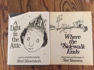 Where the sidewalk ends poems and drawings 590 picclick shel silverstein lot 2 hcdj light in the attic 1981 where sidewalk fandeluxe Choice Image