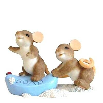 I Always Have A Soaper Good Time With You CHARMING TAILS Mouse Figurine #4039554