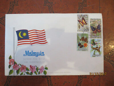 N0--8---1971  Malaysia  Butterflies    Fdc  - 4 Stamps   -Fair