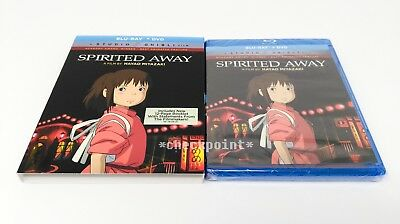 NEW Spirited Away (Blu-ray/DVD, 2-Disc Set, 2017) with Slipcover SEALED!