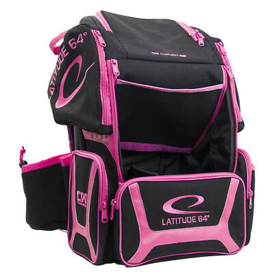 Latitude 64 Disc Golf Backpack Bag , Black and Pink New Brisbane Frisby ladies
