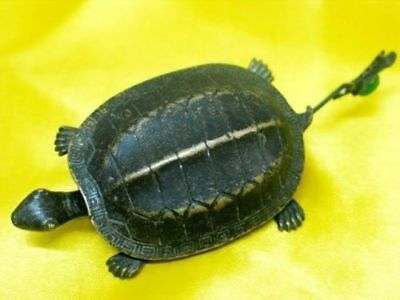 Rare Chinese old style Brass Carved tortoise/turtle padlock lock and key