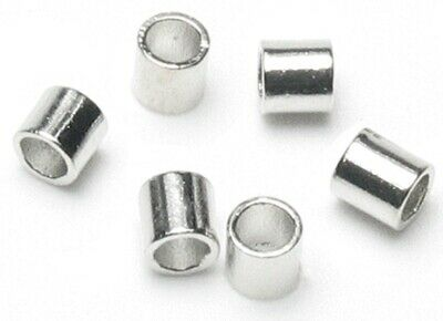 100 Argentium Sterling Silver Smooth 2x2mm Crimp Tubes *
