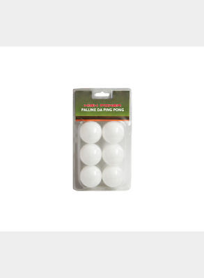High Power Package Of 6 Golf Balls Ping Pong - White - Tg. A. (8033159040476)