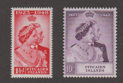 Pitcairn Is. - 1948 Silver Wedding Set. Sc. #11-2. SG #11-12. Mint