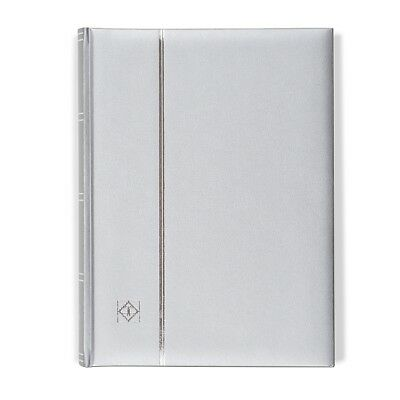 Lighthouse A4 COMFORT Stockbook 64 Page Padded METALLIC EDITION Cover - SILVER
