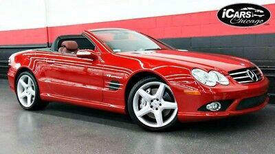 2007 Mercedes-Benz SL-Class  2007 Mercedes Benz SL55 AMG 2-Owner Rare Red/Red 51,808 Miles Pano Roof Serviced