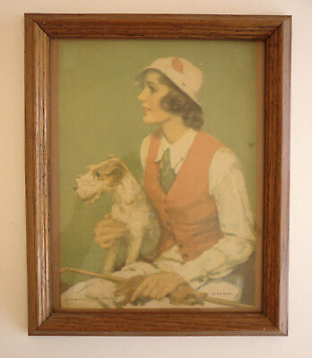 """Wire-Haired Fox Terriers - Framed Print - 1920's - London - 9-1/2"""" X 11-1/2"""""""