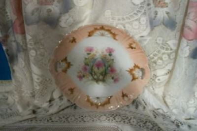 Antique Chic Floral Plate Aesthetic Victorian Shabby