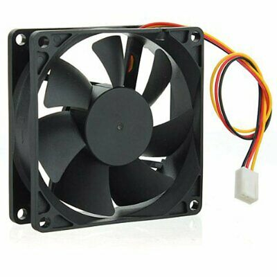 12V 2Pin DC Brushless 8cm 80x80x25mm 80mm Computer Industrial Cooling Case Fan